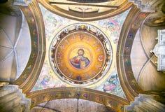 Dôme de la tombe sainte Church.Jerusalem image libre de droits