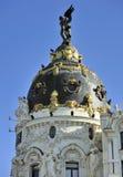 Dôme de métropole de construction, Madrid, Espagne Image libre de droits