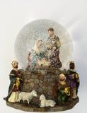 Dôme de neige de Noël Images libres de droits