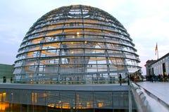 Dôme de Reichstag, Berlin Images libres de droits