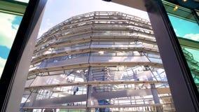Dôme de Reichstag | L'Allemagne banque de vidéos