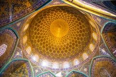 Dôme de Sheikh Lotfollah Mosque à Isphahan - en Iran photo stock