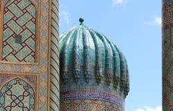 Dôme de Sher-Dor Madrasah image libre de droits