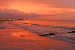 Dôme de tonnerre au coucher du soleil Images libres de droits