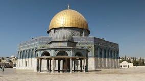 Dôme des mosquées de chaîne et de roche à Jérusalem banque de vidéos