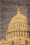 Dôme du bâtiment de capitol des Etats-Unis à Washington D C photographie stock libre de droits