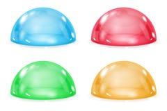 Dôme en verre Semi sphères transparentes brillantes colorées illustration libre de droits
