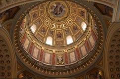 Dôme intérieur de Basillica Photographie stock libre de droits