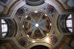 Dôme la de l'église Stella Maris images libres de droits