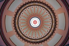 Dôme rotunda de Statehouse coloré de l'Ohio Photographie stock libre de droits