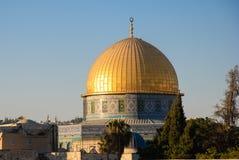 Dôme sur la mosquée de roche, Jérusalem Photographie stock libre de droits
