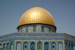 Dôme sur une roche à Jérusalem, fin - vers le haut Photographie stock