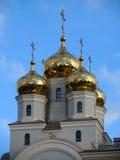 Dômes de cathédrale dans les noms de tous les saints photos stock