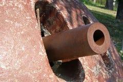 Dômes de Mimitizzate des canons de la Première Guerre Mondiale photos stock