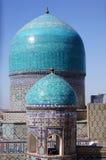 Dômes de mosquée à Samarkand, Uzbekistan Photographie stock libre de droits