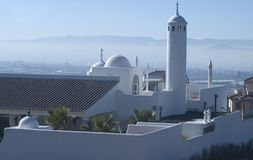Dômes et minaret arabes de manoir Photos stock