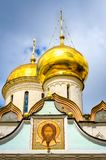 Dômes et peinture de mur extérieur à la cathédrale de trinité Image libre de droits