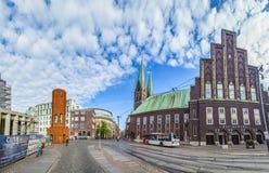 Dö Glocke (Klockan) är en konserthall i mitten av Bremen Royaltyfri Foto
