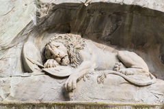 Dö lejonmonumentet i Lucerne Arkivfoton
