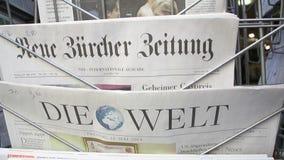 Dö Zeit Badische Zeitung, dö Bild, Sueddeutsche Zeitung, Frankfurter Allgemeine arkivfilmer