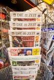 Dö Zeit, Bild, Suddeutsche Zeitung, Neue Burcher Zeitung, Taz a Royaltyfri Foto