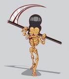 Död är ett skelett. Lycklig allhelgonaafton Vektor Illustrationer
