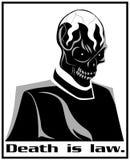 Död är lag stock illustrationer