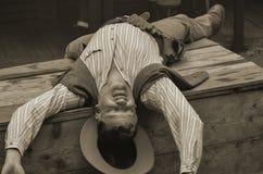 Död cowboy arkivfoton