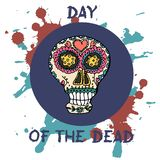 död dag Mexicansk traditionell festival Dia de Los Muertos vektor illustrationer