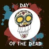 död dag Mexicansk traditionell festival Dia de Los Muertos stock illustrationer