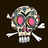 död dag Mexicansk traditionell festival Dia de Los Muertos royaltyfri illustrationer