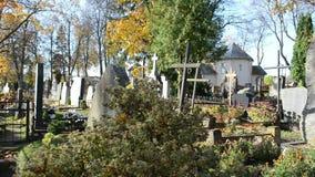 Död för lukt för lantligt kyrkogårdkors retro träkyrklig lager videofilmer