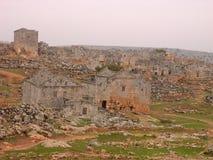 död serjilla syria för stad royaltyfri fotografi