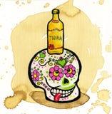 död skalle för färgrik dag Arkivbild