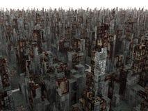 död stad Arkivbild