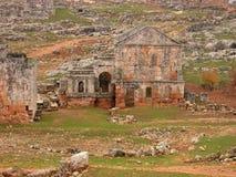 Död stad av Serjilla, Syrien Arkivfoto