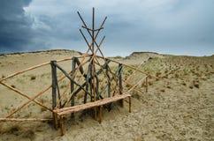 Döda dyn i Neringa, Litauen. Royaltyfri Bild