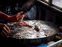 Döda och laga mat fisken Arkivfoto