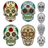 döda skallar för dag vektor illustrationer