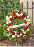 Dödad Blair House Building Washington DC för kransDC kontor Arkivbilder