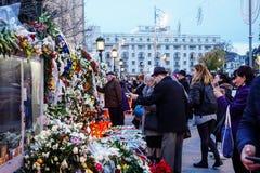 Dödcomemoration av konungen Mihai av Rumänien royaltyfri fotografi