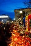 Dödcomemoration av konungen Mihai av Rumänien Arkivbild