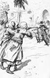 Döden av Charles Gordon vektor illustrationer