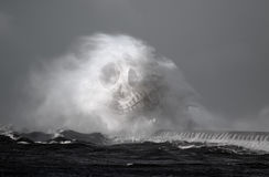 Dödliga havsvågor Arkivbilder