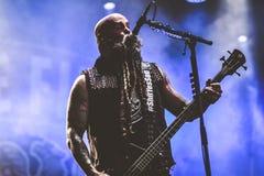 Dödstansmaskin för fem finger, Chris Kael Hellfest heavymetal 2017 Arkivfoton