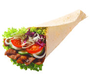Döner with fresh salad and meat Royalty Free Stock Photo