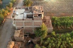 Dörfer nahe Assuan in Ägypten lizenzfreies stockbild