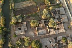 Dörfer nahe Assuan in Ägypten lizenzfreie stockfotografie