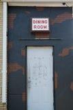 Dörröppning för stads- förfall Royaltyfri Bild