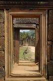 dörröppning sculpted vägg Royaltyfria Bilder